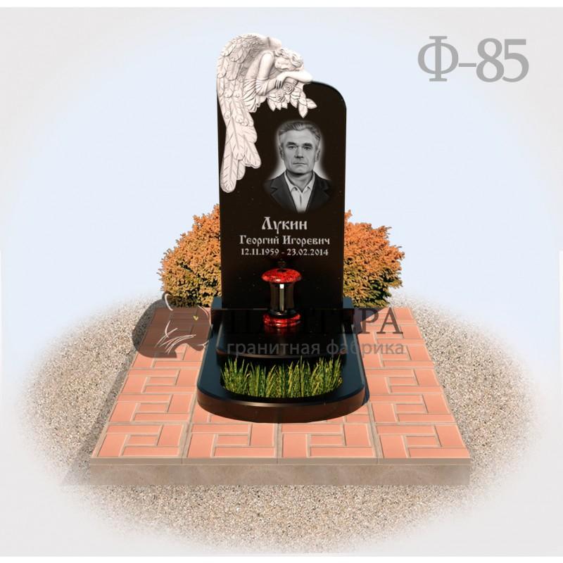 Памятник Ангел с цветами Ф85