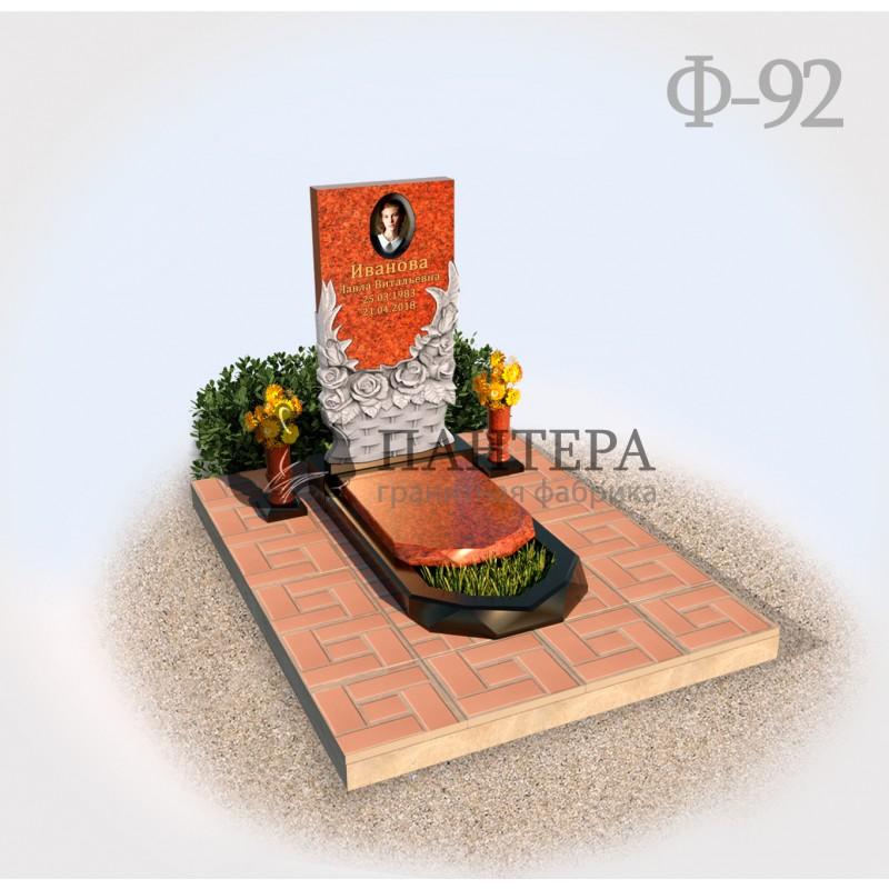 Памятник с цветами Ф92-1