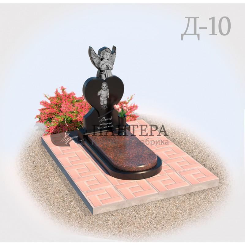 Памятник Сердце с Ангелом Д10