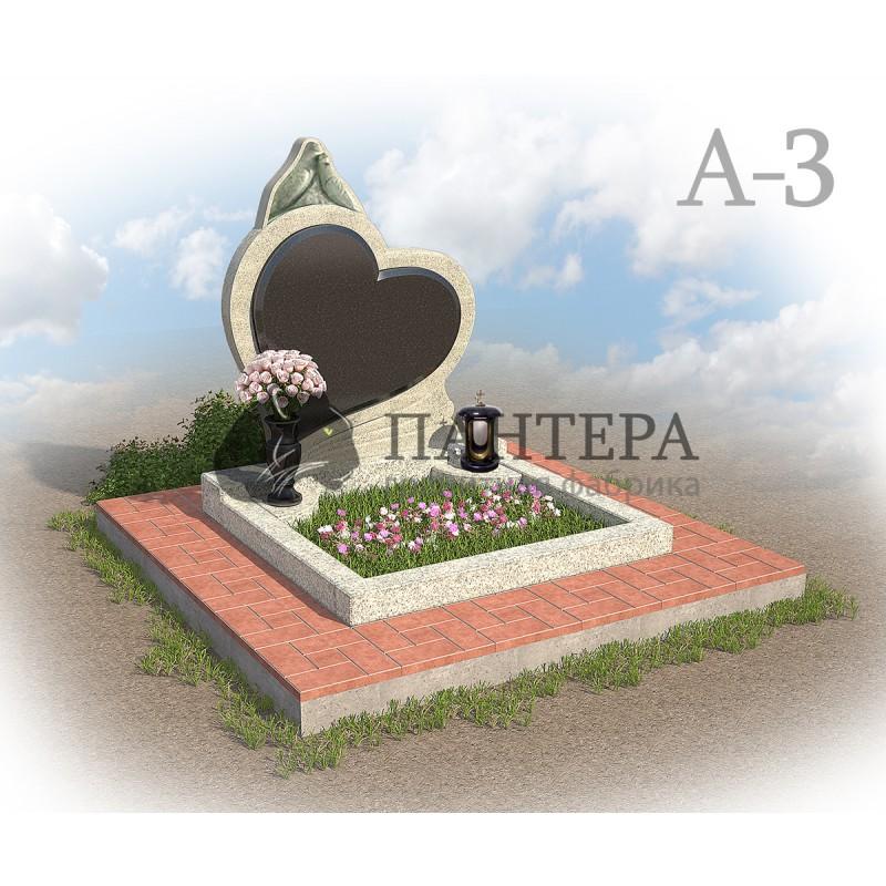 Эксклюзивный памятник из двух видов гранита А3