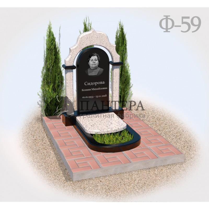 Памятник Арка белый гранит Ф59