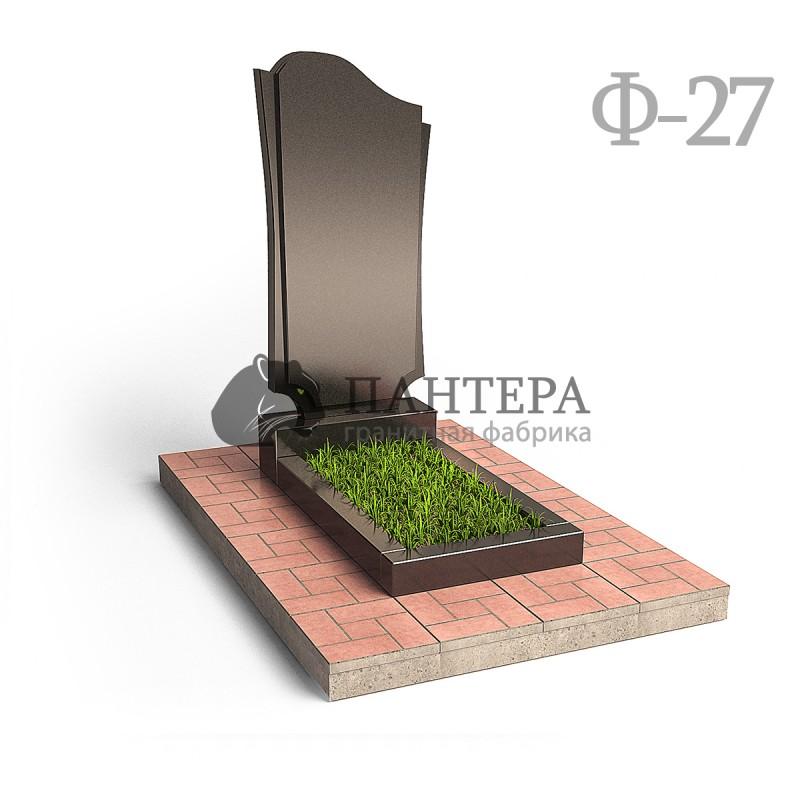 """Памятник """"Волна с резьбой по периметру"""". Ф-27"""