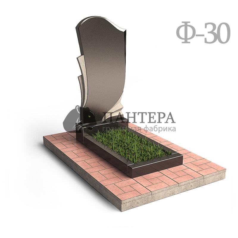 """Памятник """"Волна с резным силуэтом и полупрофилями"""". Ф-30"""
