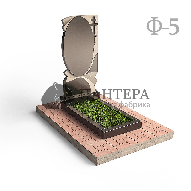 Памятник Овал c крестом Ф5