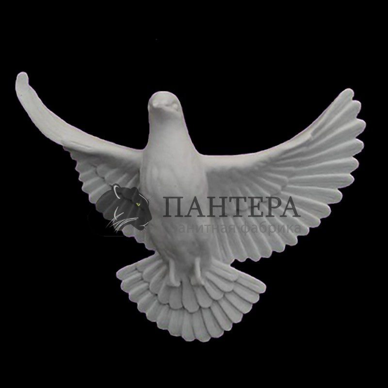 Мраморный голубь 22 см. M-1