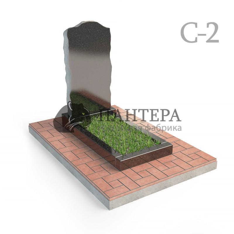 """Памятник """"Скала"""" с колотыми гранями. С-2"""