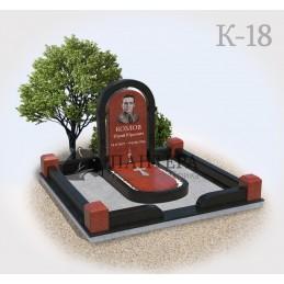 Мемориальный комплекс из красного гранита К18