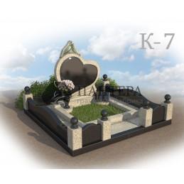 Мемориальный комплекс из двух видов гранита К7