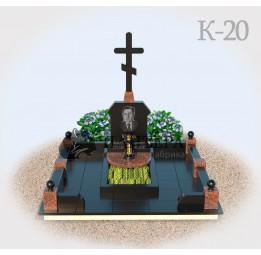 Комплекс из гранита с Крестом К20