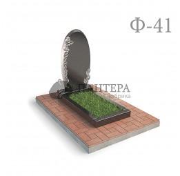 Памятник Овал с розами Ф41