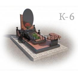 Мемориальный комплекс из двух видов гранитов. К-6