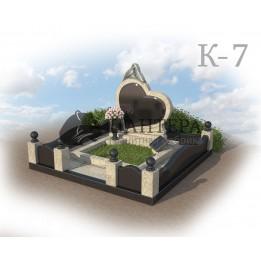 Мемориальный комплекс из двух видов гранитов. К-7
