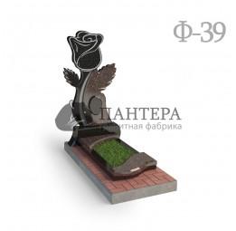 Памятник Роза из двух видов гранита Ф39