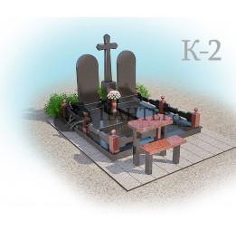 Мемориальный комплекс с крестом. К-2