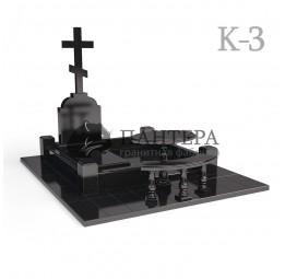 Мемориальный одиночный комплекс с крестом. К-3
