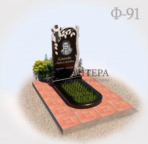 Памятник Березка с крестом Ф91