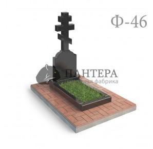 Памятник с Крестом и стелой Ф46